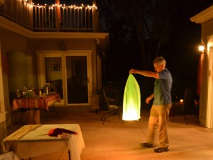 We watched as Tim sent off colorful floating sky lanterns.