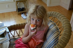 Erin loved the cupcakes, which was the whole point anyway.