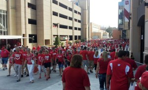 Badger fans gather