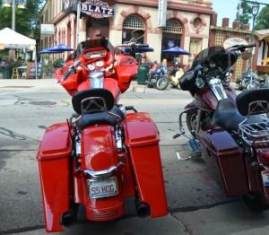 Blatz beer and an orange bike
