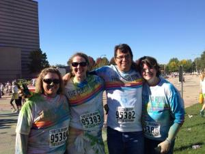 Here's my group, Debbie, me, Todd and Catherine. Woo hoo for the Color Run!