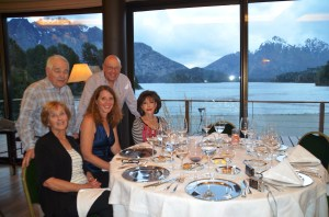 This was the view from our dinner table at the Llao Llao Resort in Argentina. Also, please meet our new friends Norton, Howard and Norma.