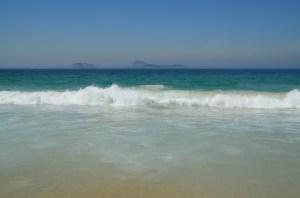 I enjoyed a nice run along this beautiful beach.