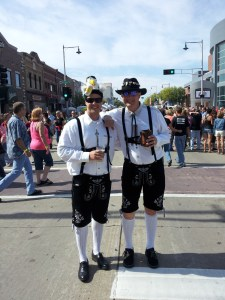 Just a couple of lederhosen wearing fellas, chewing some curd finding their way.