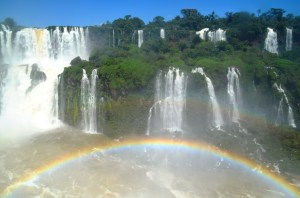 The rainbow on the Brazilian side