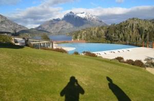 The stunning hotel swimming pool