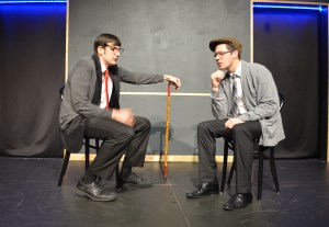 Cast members Michael Silver and C.J. Tour play a couple of old men contemplating life over a game of chess.