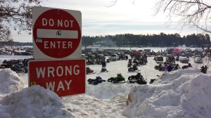 Cruiserfest 2014 attracted more than 2,000 sleds this year, a fact I overheard while laying low at the Minocqua Brewing Company. Ice conditions were perfect, though, if you've ever heard ice shift on a frozen Wisconsin lake, you'd be a little nervous too.