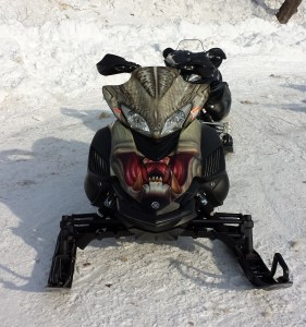 This sled freaked me out.