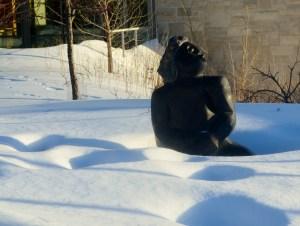 Optimistic statue