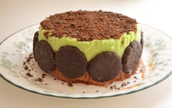 Not so thin mint ice cream cake