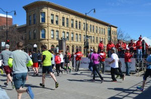 The Crazy Legs raises money for UW athletics, so you'll find UW athletes all over the route offering encouragement.