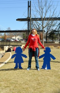 """Molly took this picture of me on our recent """"Is This Normal"""" spring break.  It is normal for me to pose like sculptures, as we've documented many times on this blog."""