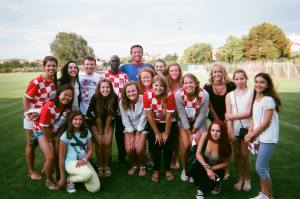 Vinnie and the Croatian soccer fans