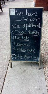 Move in day is festive...for the merchants.