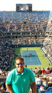 Vince at the Cilic match