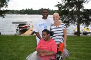 Kathy at the lake
