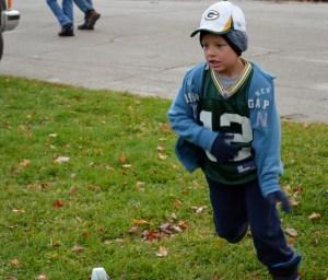 Ben runninng a route