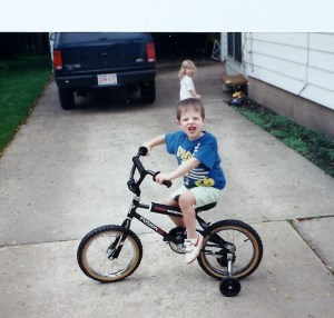 Charlie's training wheels