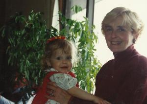 Katherine and Grandma Peggy 1st birthday