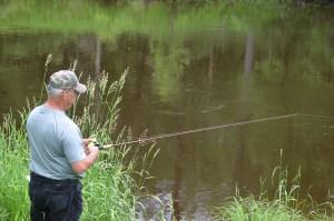 Dennis fishing