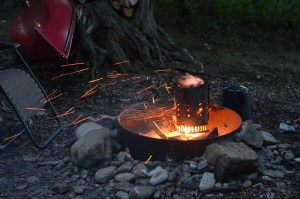 Camping camp fire