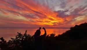 Kathy shooting the sunset 3
