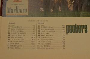 Super Bowl I Packer starters