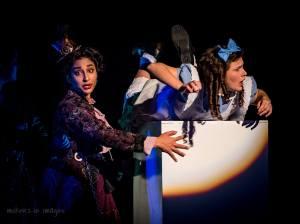 Alice in Wonderland falling