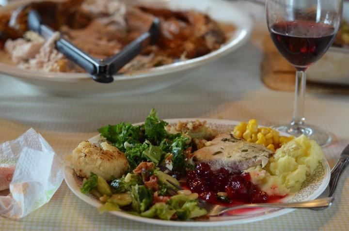 Turkey in the straw turkey dinner