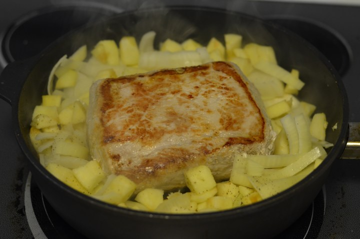 Add onions and apples