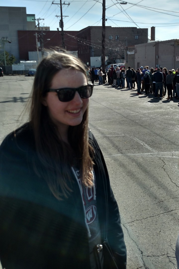 Molly in line