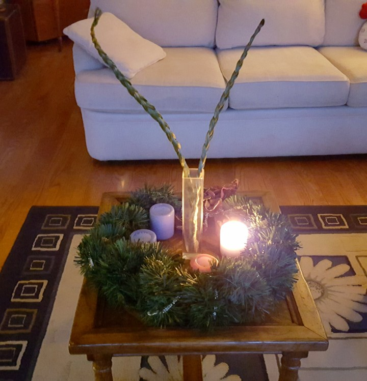 On sweetgrass, advent and positive vibes