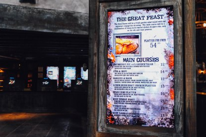 Menu at Three Broomsticks (Photo: Michelle Rae Uy)