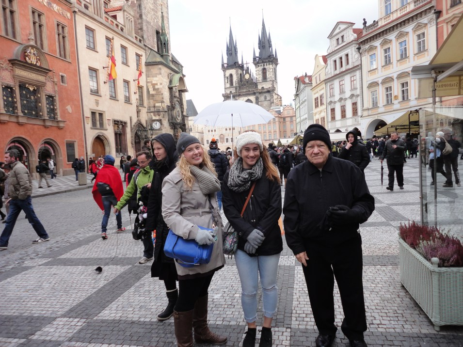 Prague with my grandparents