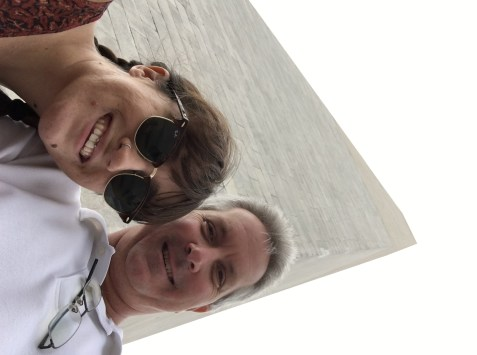 Myself, my dad and his chins at the Washington Monument