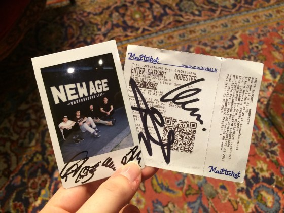 I won a giveaway for a signed Enter Shikari Polaroid