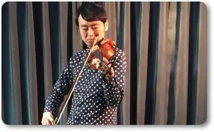 アンガールズ田中,バイオリン