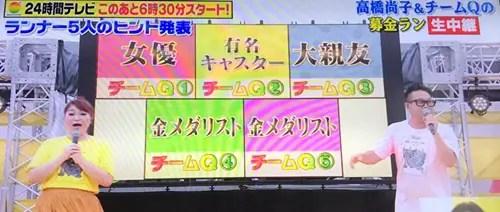 24時間テレビ,チームQ,メンバー