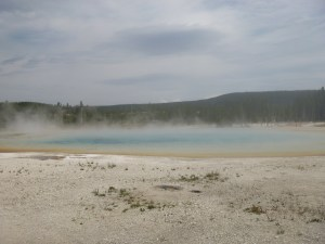 Hot spring in Upper Geyser Basin, Yellowstone National Park, WY