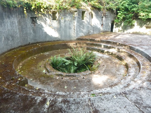 Gun Emplacement 1 at Fort Canby, Cape Disappointment State Park, WA