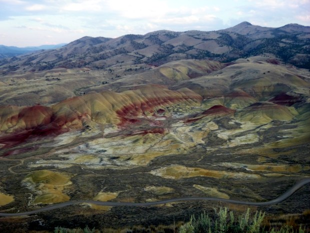 The Painted Hills from the Carroll Rim Trail, John Day Fossil Beds, Oregon