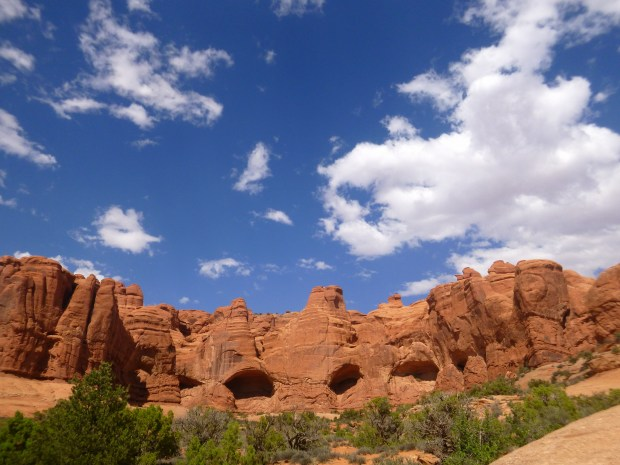 I think this is Cove of the Caves but I'm not sure though I just like the picture.  Arches National Park, Utah