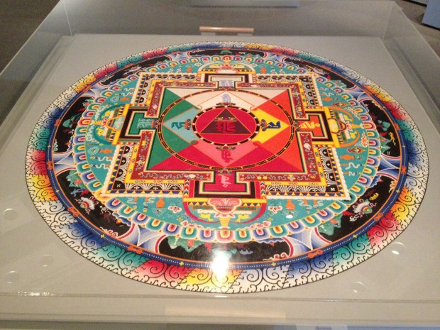 Hayagriva Sand Mandala, created by monks from Seraje Monastery (India), 1996, Denver Art Museum, Colorado (Yes, this is SAND.  It is also three dimensional which is even more incredible)