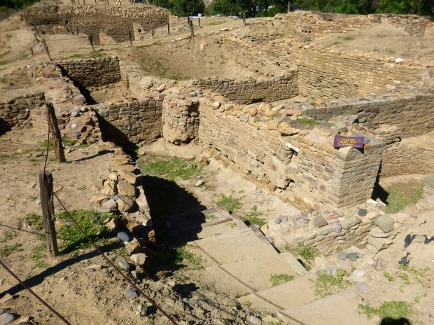 View of main room block from the East, ca. 1088 - 1090 AD, Salmon Ruins, New Mexico