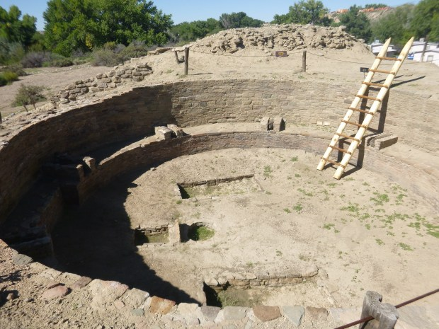 Tower Kiva, originally over 12 feet high (with modern ladder), ca. 1088 - 1090 AD, Salmon Ruins, New Mexico