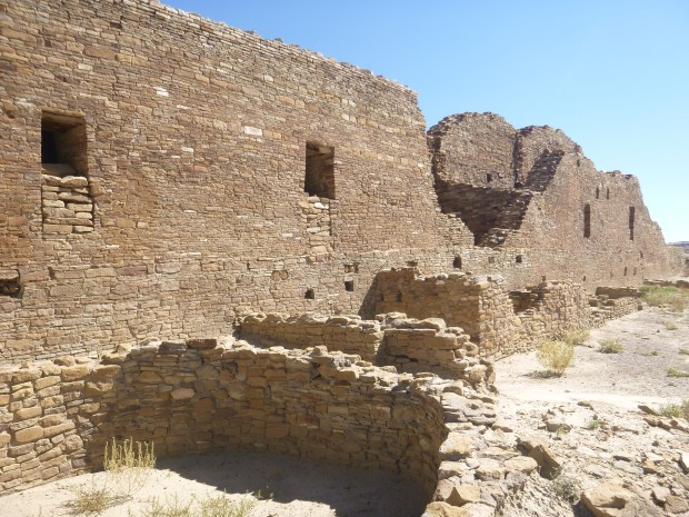 Pueblo del Arroyo from south, ca. 1075 - 1110 AD, Chaco Canyon National Historical Park, New Mexico