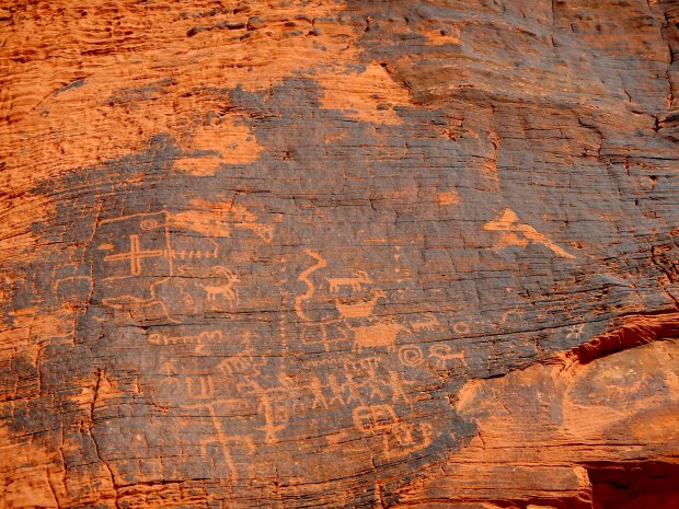 Petroglyphs on Mouse Tanks Trail, Valley of Fire State Park, Nevada