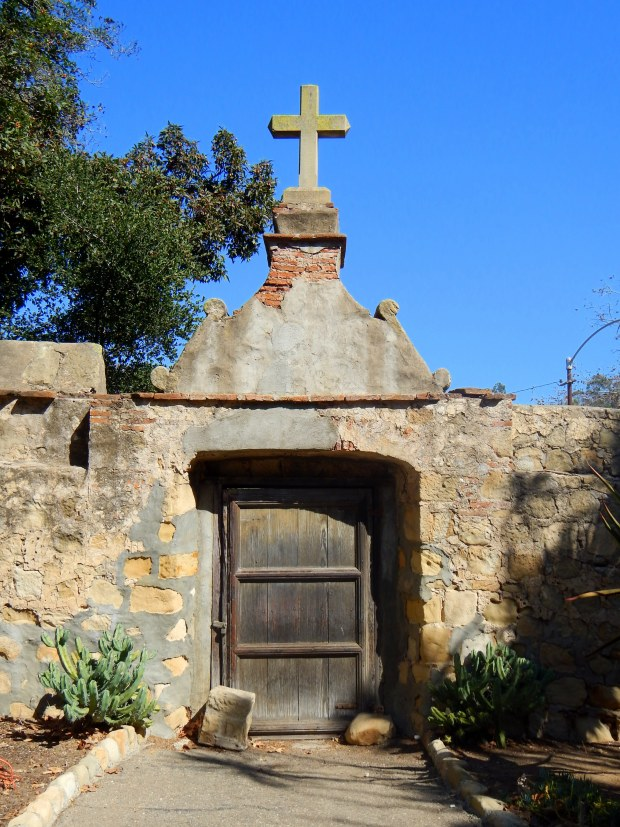Original entry into cemetery, Mission Santa Barbara, California