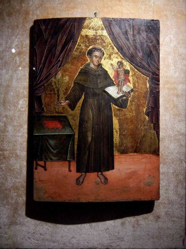 Painting of Fray Junipero Serra, Mission Santa Barbara, California